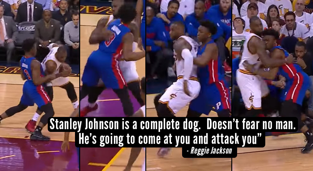 19 Year Old Stanley Johnson Played Some Beautiful Grown Man Defense On LeBron James!
