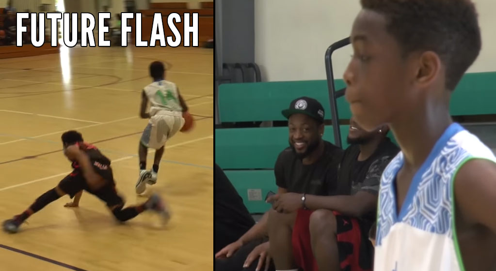 "Dwyane Wade Watching His Son, Zaire, Become the ""Future Flash"""