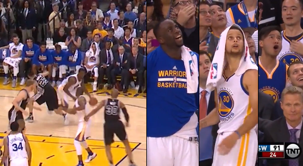 Harrison Barnes Hits Kevin Martin With The Jab Step of Death Then Matt Bonner Ruins The Highlight