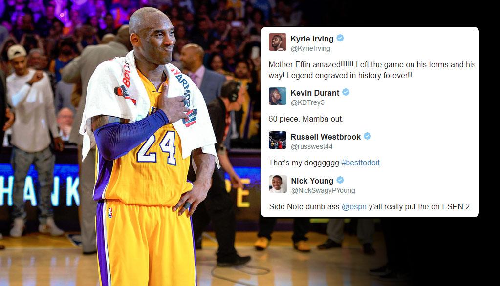NBA Players React To Kobe Scoring 60 In His Final Game