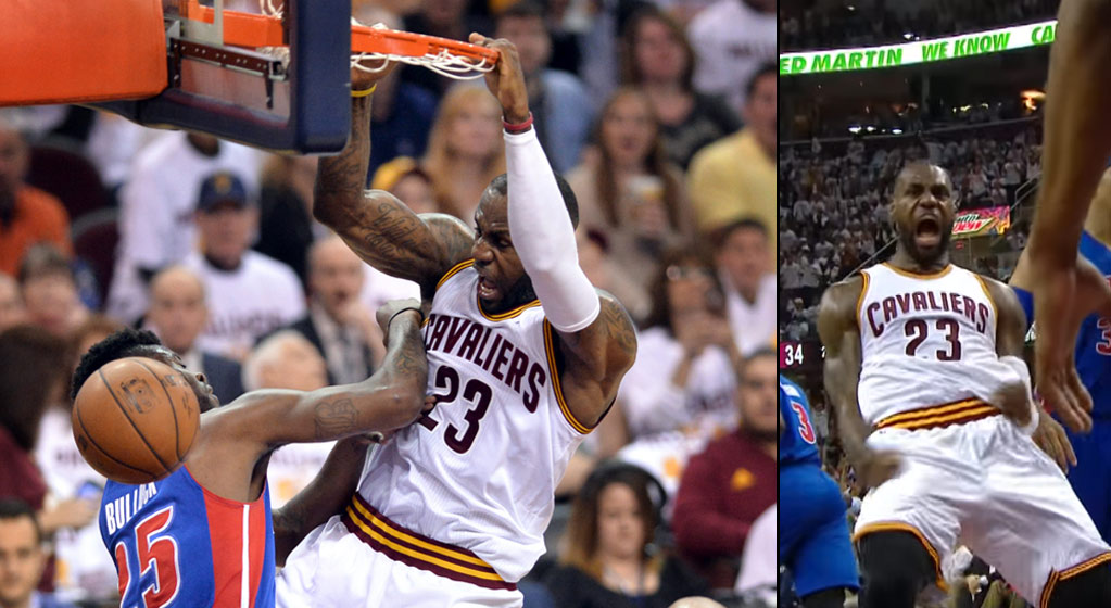 "LeBron James Posterized Reggie Bullock And Got ""All Kind Of Sassy"" With His Kemp Worthy Celebration"