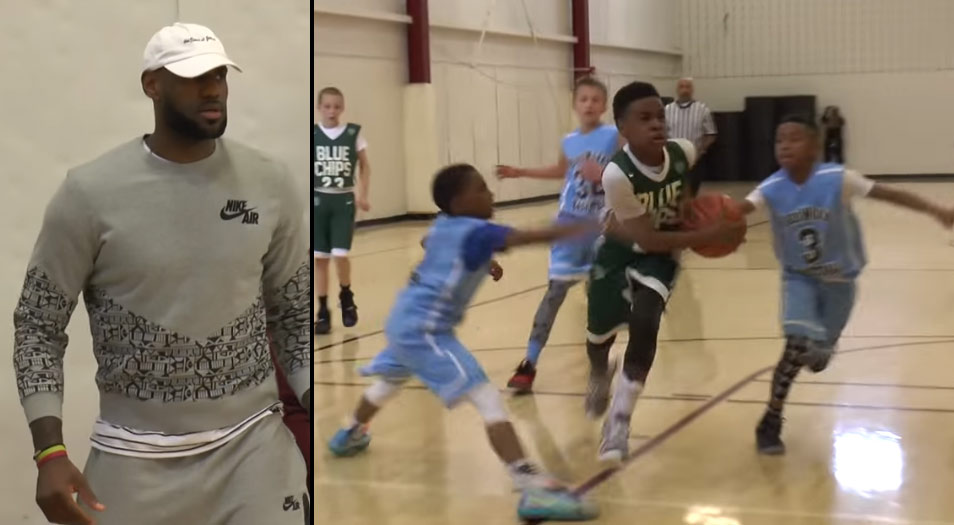 LeBron James Jr Dropping Dimes & Playing D In Front of Proud Dad at Buckeye Prep Invitational