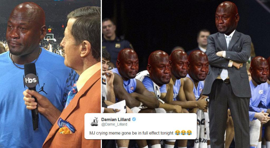 Best Crying Michael Jordan Memes After North Carolina's Loss To Villanova