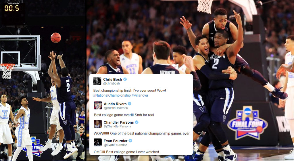 "NBA Players React To Villanova's Epic Game-Winning 3 in the ""Best NCAA Championship Game Ever"""