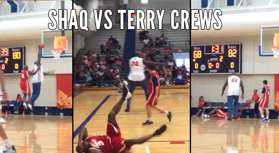 Shaq Dunks On Terry Crews In Cheez-It Celeb Game