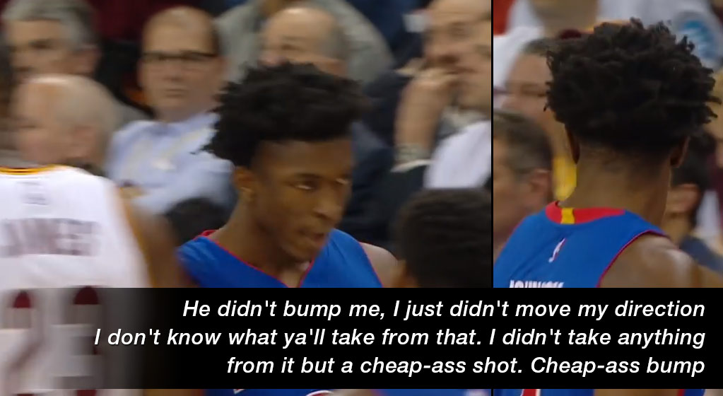 "Rookie Stanley Johnson Says He's In LeBron's Head, Calls Cavs Bench ""Little Cheerleaders"""