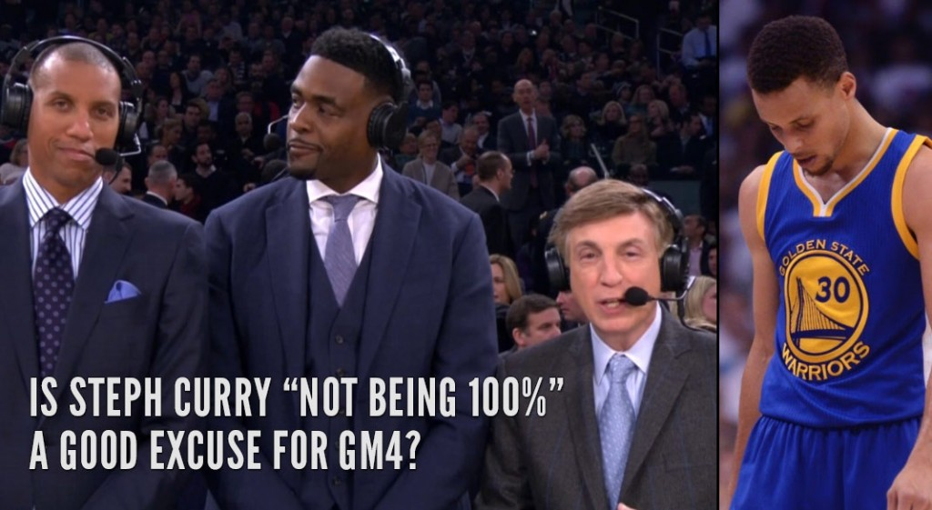 Marv Albert Pulled Out The Curry Must Be Injured Excuse In GM4 & Reggie Miller Wasn't Having It