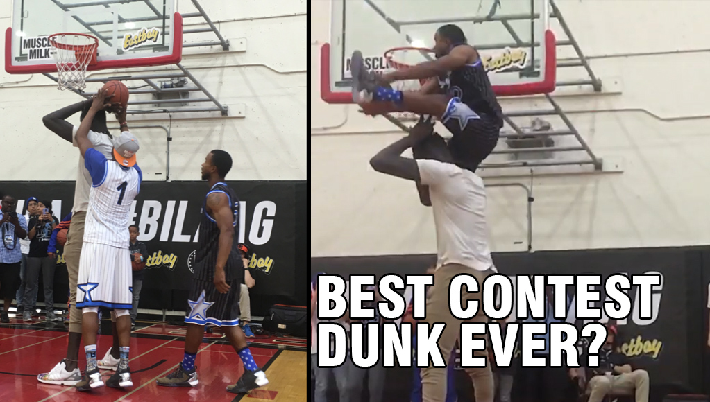 6'1 Myree Bowden Reverse Dunks OVER 7'6 Mamadou Ndiaye