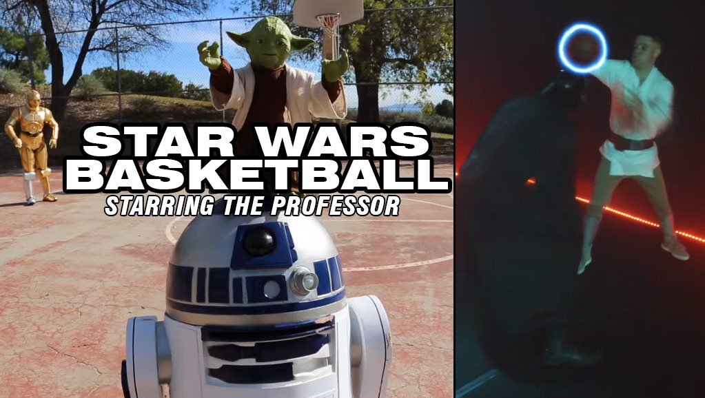 The Professor Breaks Darth Vadar's Ankles in 'Star Wars Basketball'
