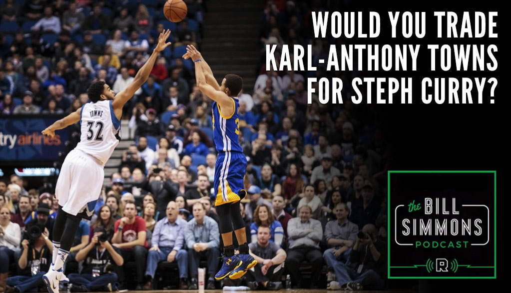 Bill Simmons Podcast: Why Craig Kilborn Would Not Trade Karl-Anthony Towns for Steph Curry