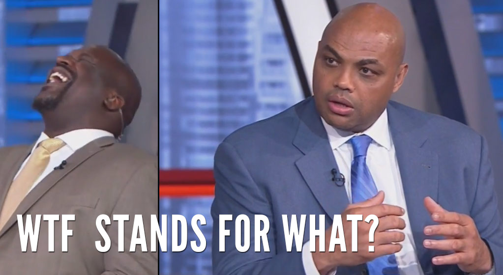 "Shaq Cracks Up After Charles Barkley Says ""WTF, What The Hell"""