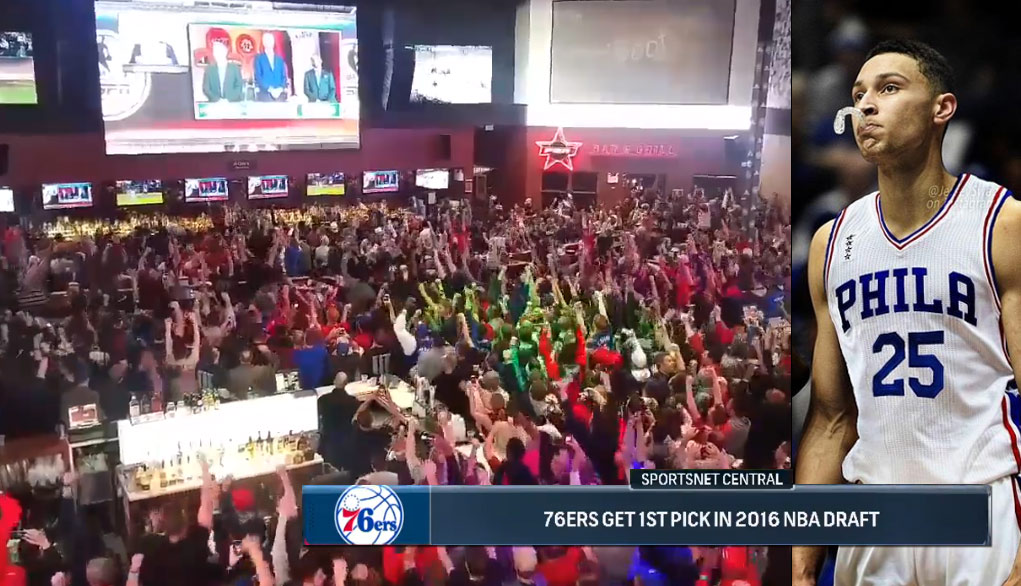 Watch 76ers Fans Go Absolutely Nuts Celebrating the Draft Lottery