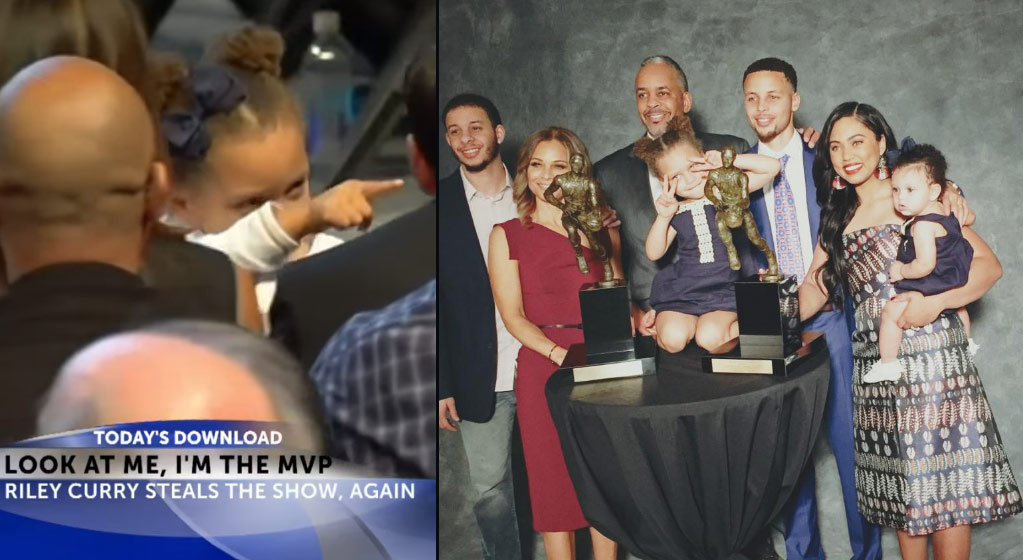 Riley & Sonya Curry Stole The Show At Steph's MVP Ceremony