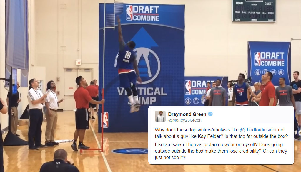 5'8 Kay Felder Ties NBA Combine Record With 44′ Max Vert, Gets Big Props From Draymond Green