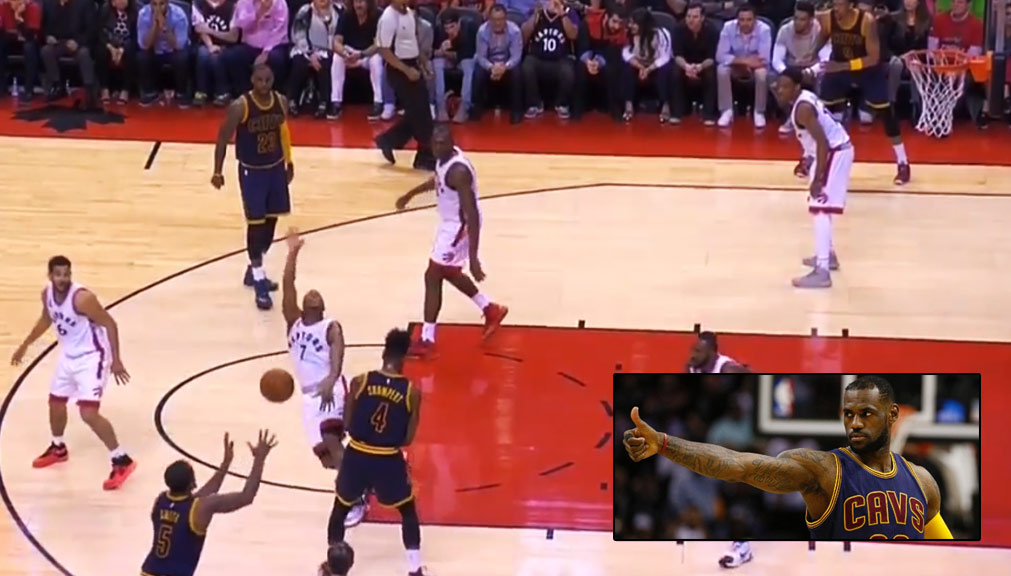 Kyle Lowry Tried To Out Flop LeBron James in GM3