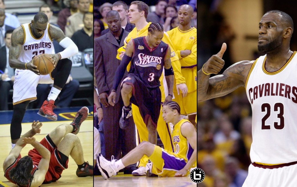 LeBron James Honors His Coach By Stepping Over Luis Scola (& Shaq)