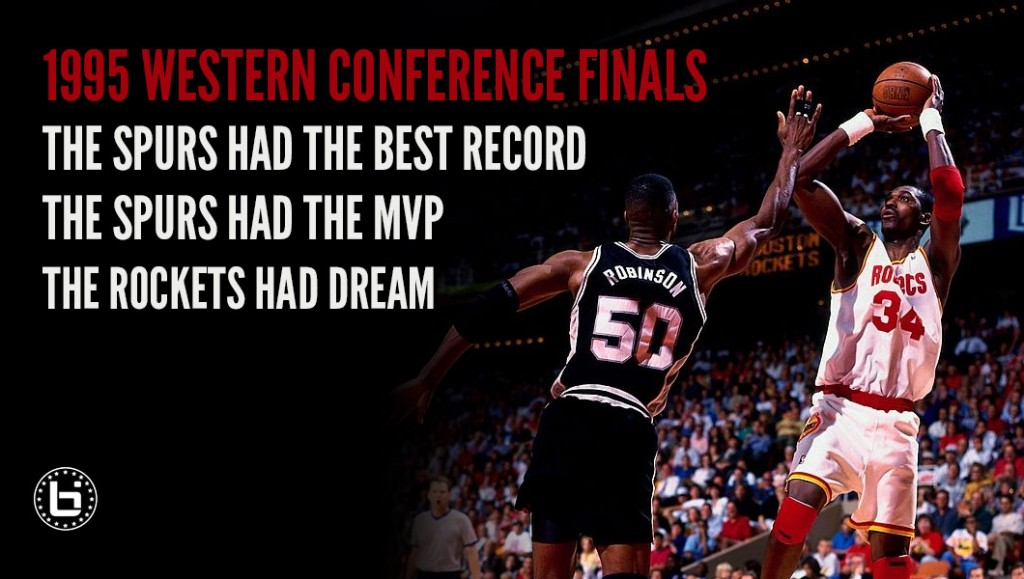 Remembering When Hakeem Dominated MVP David Robinson In The 1995 Playoffs