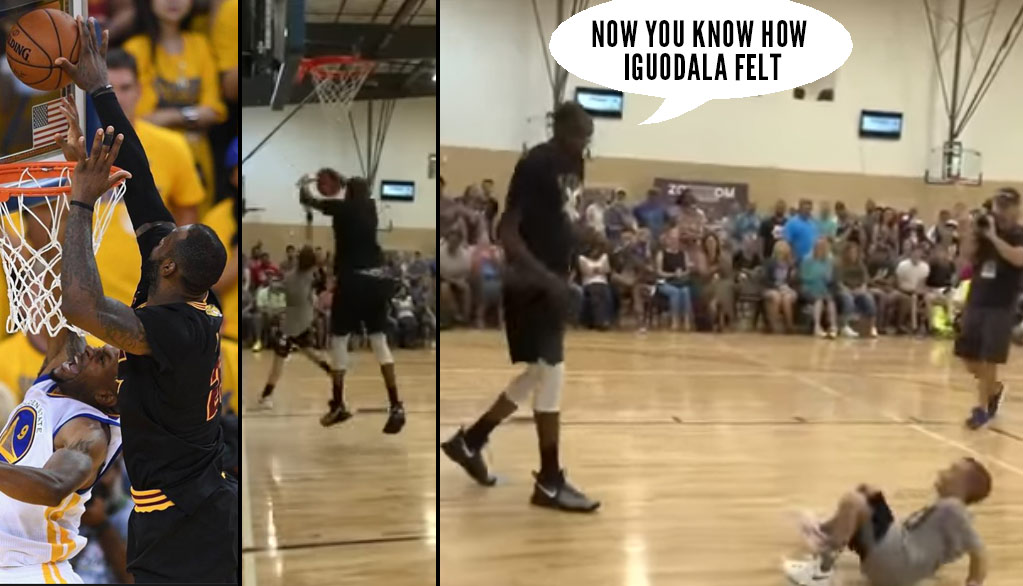 Kevin Durant Destroying Little Kids Shots At His Annual Austin Shot Block Party