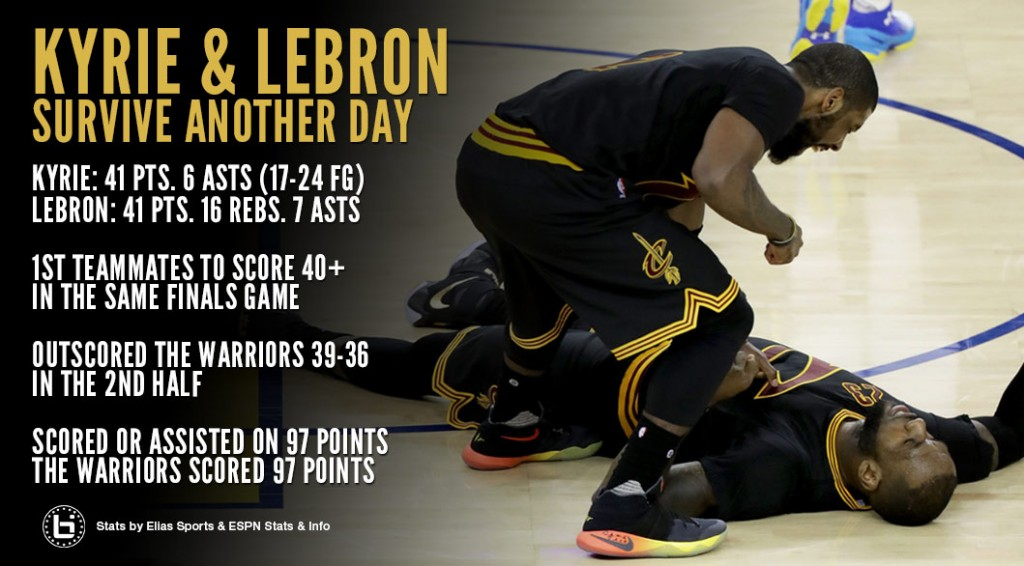 Kyrie Irving & LeBron Make History With Incredible GM5 Finals Performances