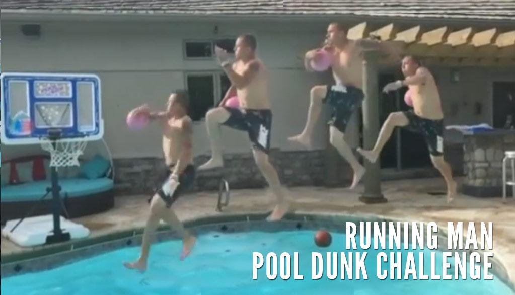 Running Man Pool Dunk Challenge