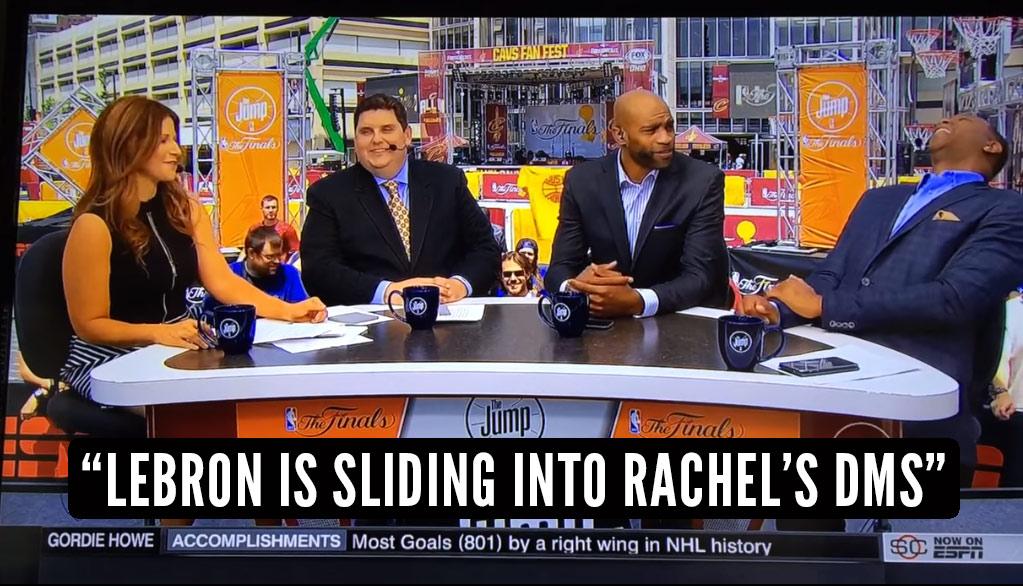 "Rachel Nichols Shuts Down Brian Windhorst On Live TV After He Says ""LeBron Is Sliding Into Rachel's DMs"""