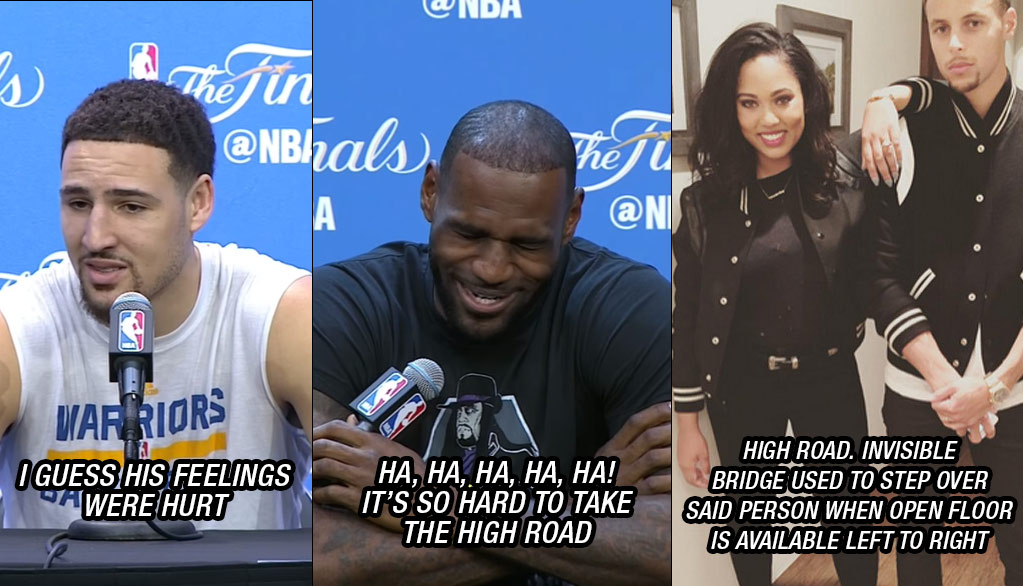 Hilarious Reactions: Warriors & Wives To LeBron to Klay About LeBron & Draymond