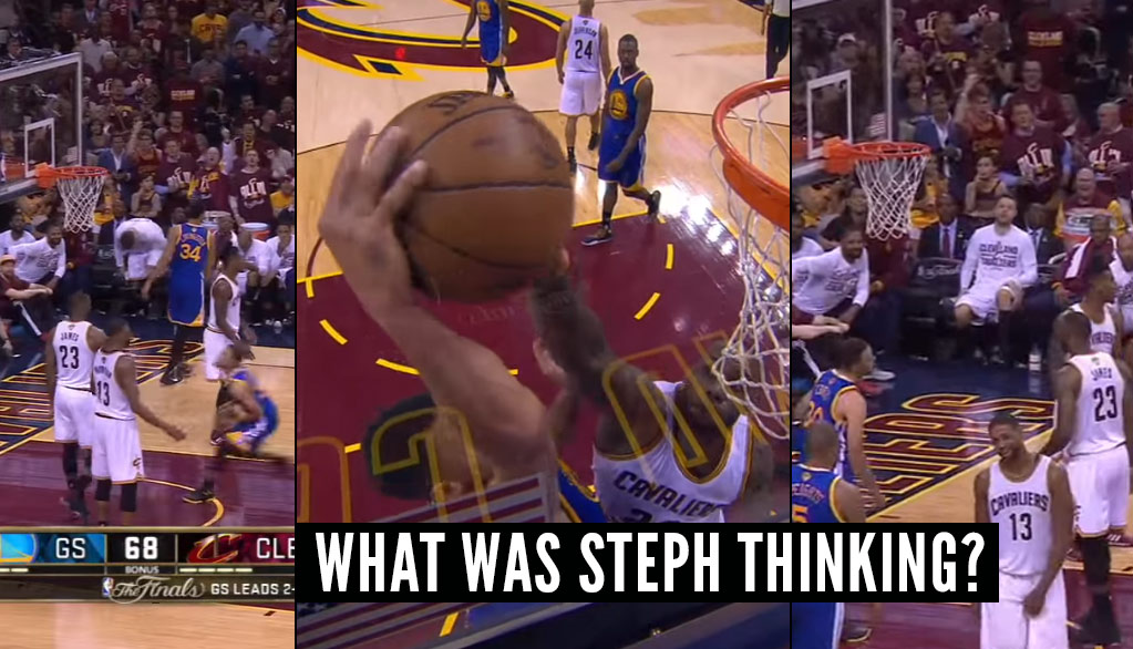 GTSOH: Steph Curry Tried To Dunk On LeBron After The Whistle