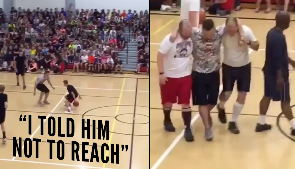 School Erupts After Student Dislocates Teacher's Knee With A Crossover in Staff vs Student Game