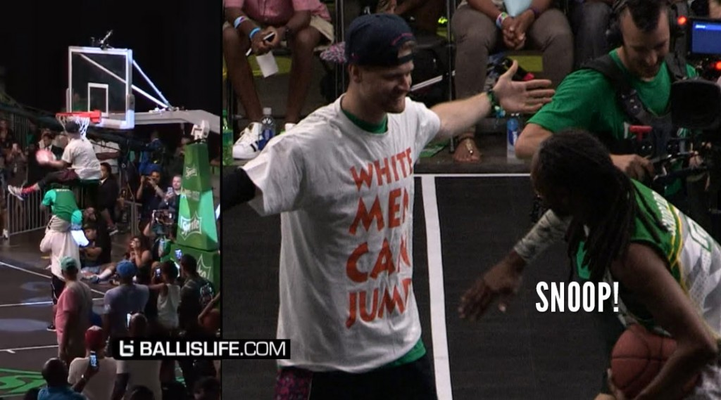 "White Guy Wearing A ""White Men Can Jump"" T-Shirt Wins The BET Dunk Contest"