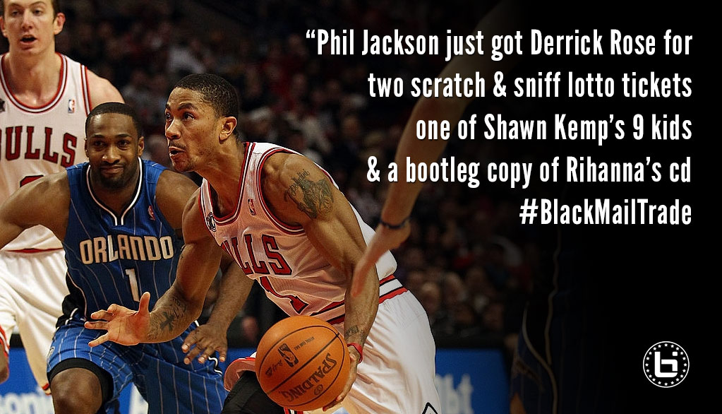 gilbert arenas hilarious thoughts on the derrick rose trade