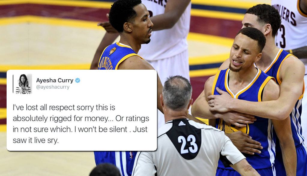 Ayesha Curry Says NBA is Rigged & Dad Was Racially Profiled During GM6 Twitter Meltdown