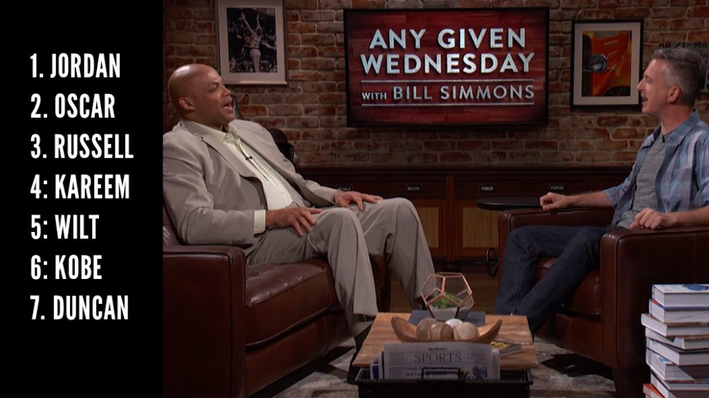Bill Simmons & Barkley Discuss Lebron's Place Among All-Time Greats
