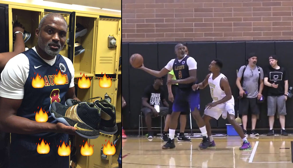 Cuttino Mobley Looking Like Uncle Drew Still Getting Buckets At The Drew League