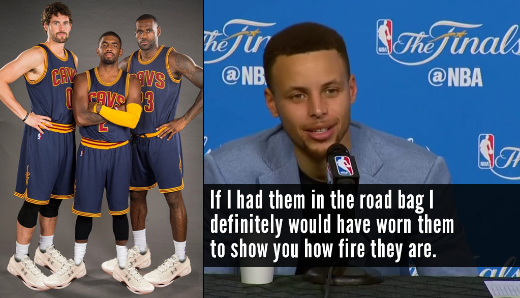 """Steph Curry Defends His New """"Fire"""" Sneakers"""