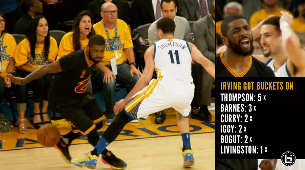 Watch 6 Different Warriors Unsuccessfully Try To Stop Kyrie Irving in GM5