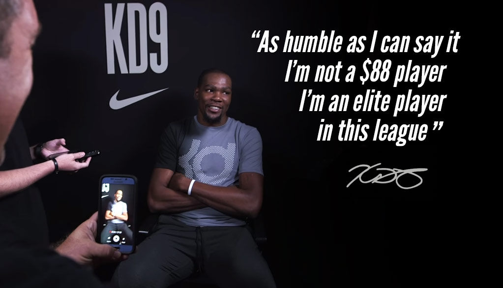 "Kevin Durant On Price Of His New Sneakers Compared To His First: ""I'm Not A $88 Player"""