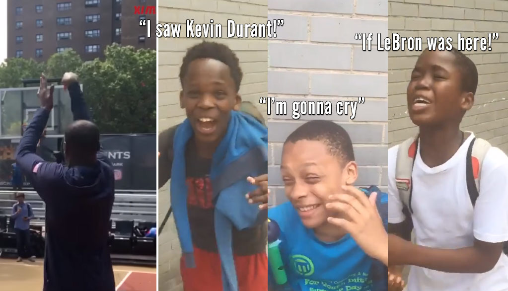 Kevin Durant's Return To Rucker Park Had Kids Going Crazy Like Adults in 2011