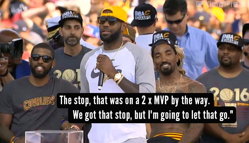 LeBron's Full (Of F-Bombs) Epic Speech/Roast At Cavs Championship Parade
