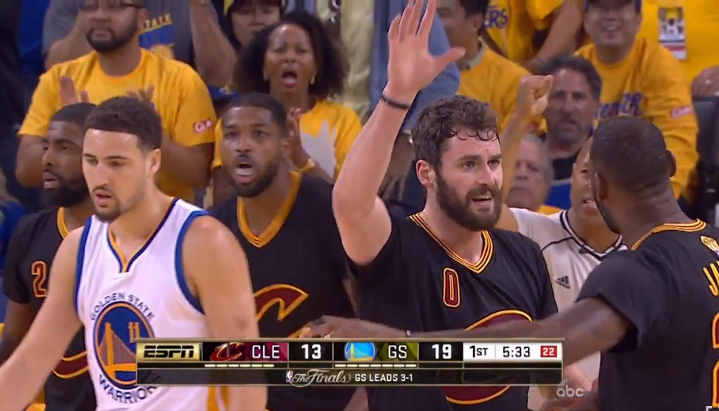 Kevin Love Wasn't Trying To Get A High-Five From LeBron (But He Did Suck) In GM5