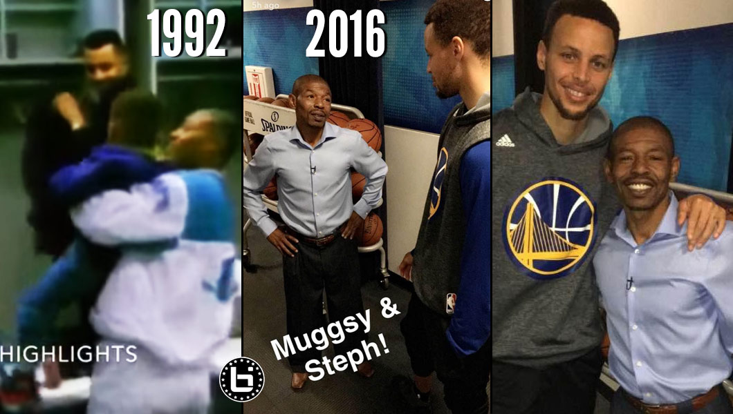 Muggsy Bogues Steph Curry Then Now 1992 2016 Ballislifecom