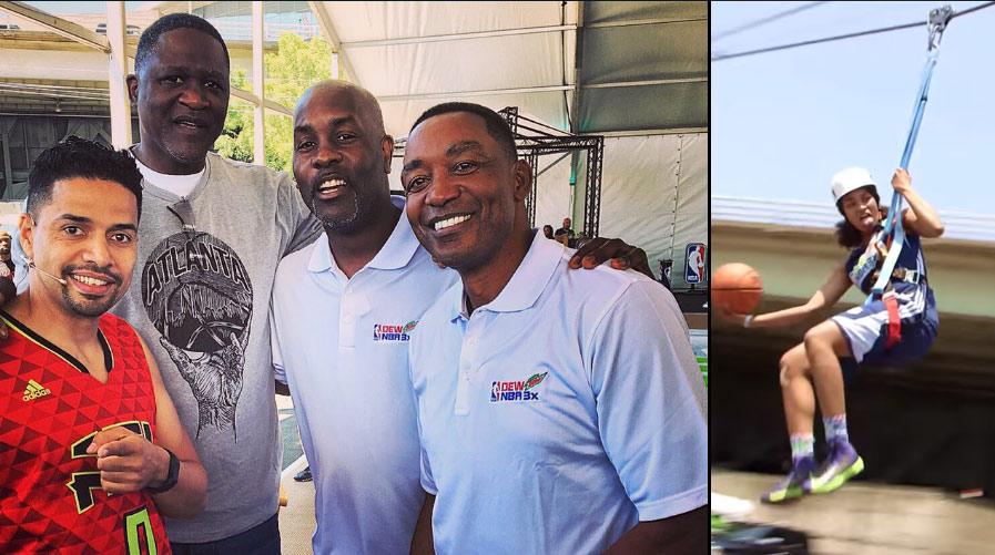 NBA Legends & Zip-Line Dunking at Atlanta NBA3x Event