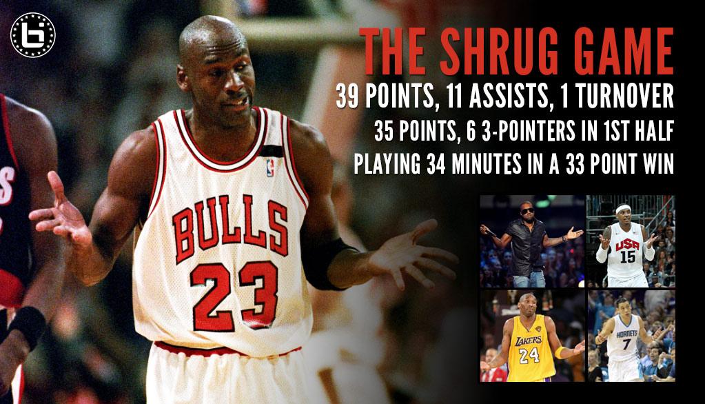 Michael Jordan's Shrug Game + Shrug Homages