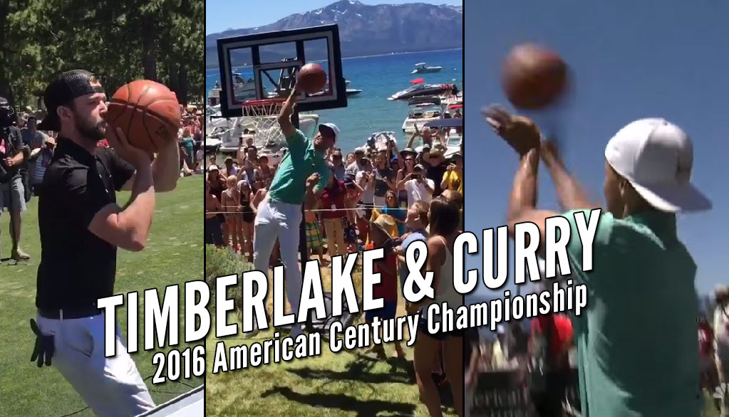 Steph Curry Rejects Justin Timberlake, Then Shoots 3 Airballs At Celeb Golf Tournament