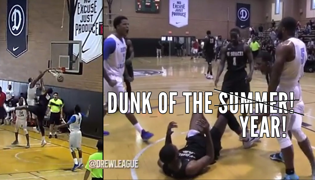 Dunk of the Year: Shannon Sharpe Catches A Body At the Drew League