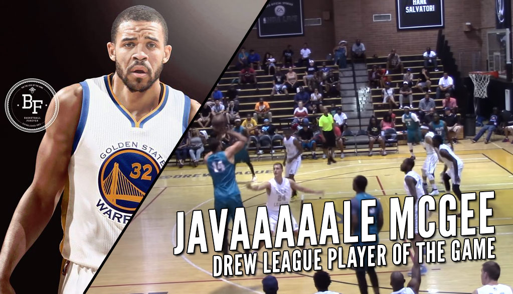 New Warrior JaVale McGee Scores 27, Shooting 3s At Drew League