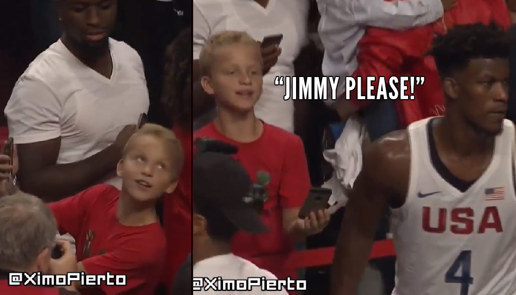 Watch Jimmy Butler Walk Off Before This Kid Could Get A Selfie At USA Game