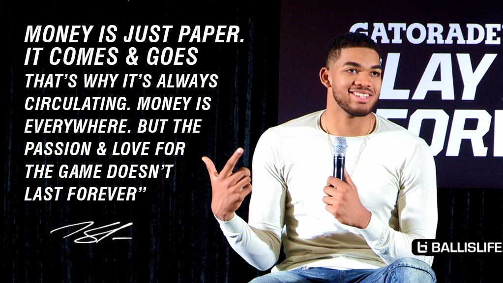 Karl-Anthony Towns On His Love For The Game & Why Kids Should Not Play For The Money