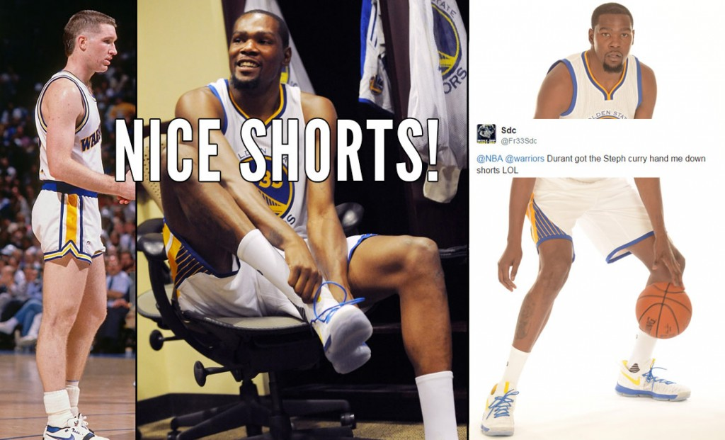 The Internet Roasted Kevin Durant For Wearing 80's Warriors' Shorts