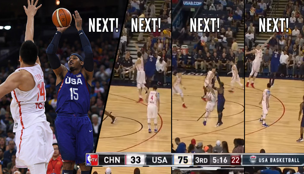Carmelo Anthony Gets Payback Vs China, Catches Fire In The 3rd Quarter
