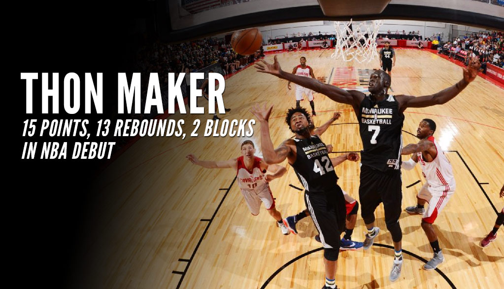 19(?) Year Old Thon Maker Impresses in NBA Debut with 15 Points, 13 Rebounds & Clutch Defense